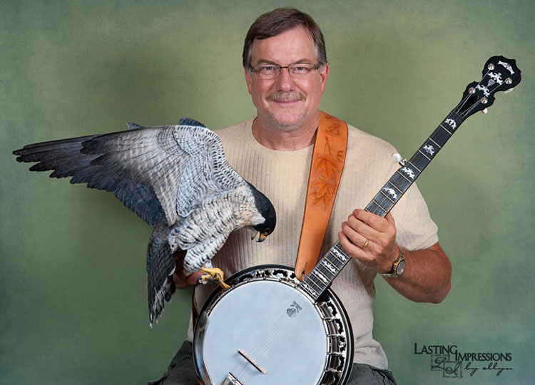 Floyd with banjo